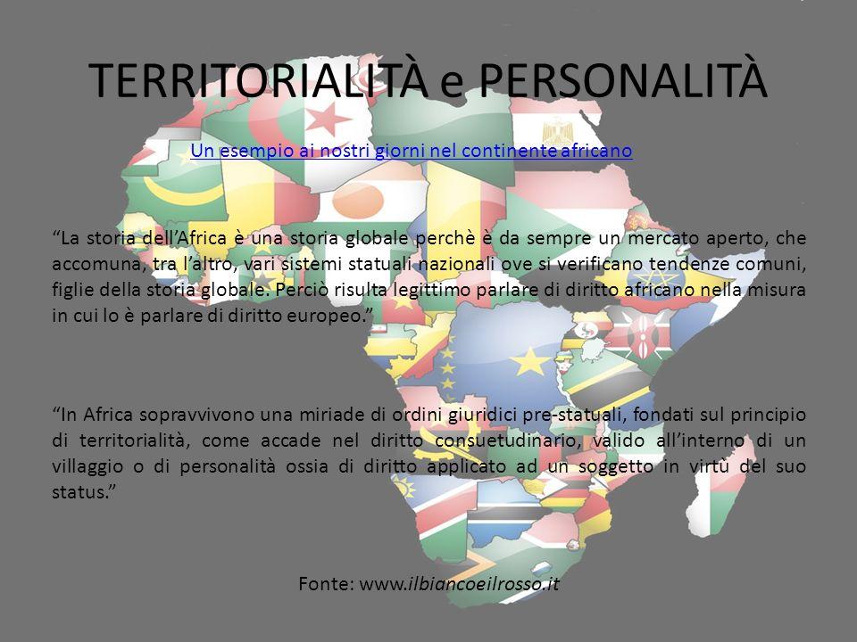 TERRITORIALITÀ e PERSONALITÀ
