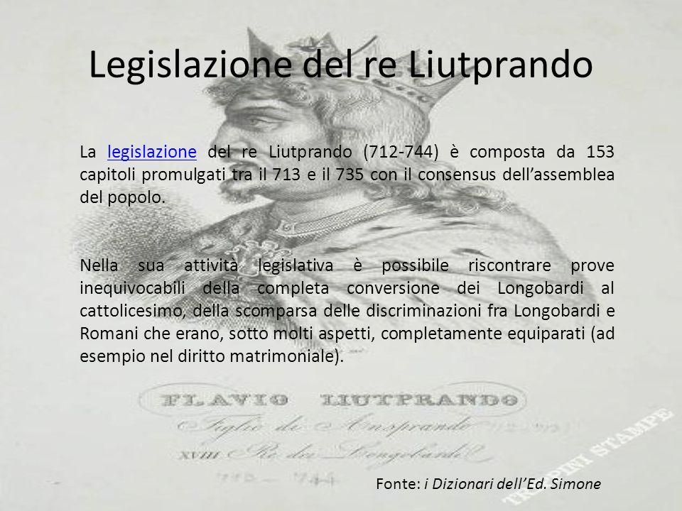 Legislazione del re Liutprando