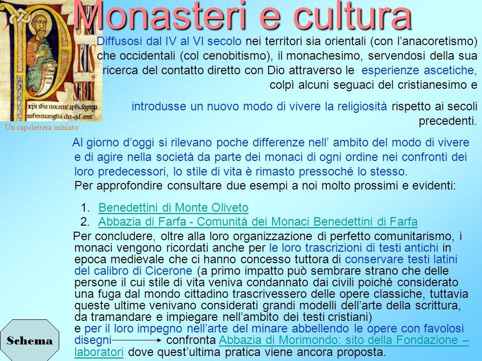Monasteri e cultura