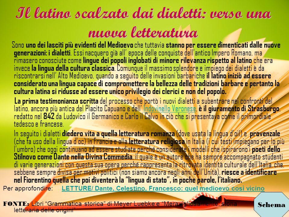 Il latino scalzato dai dialetti: verso una nuova letteratura