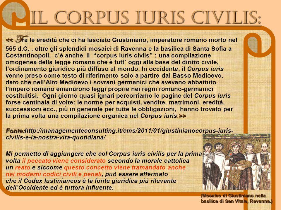 IL Corpus IUris civilis: