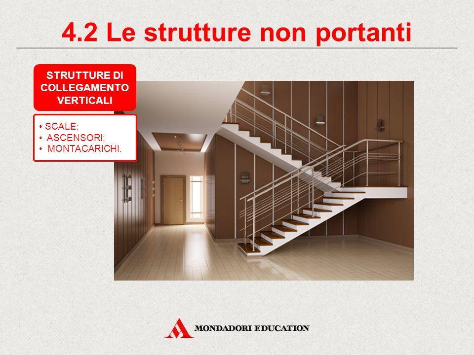 4.2 Le strutture non portanti COLLEGAMENTO VERTICALI