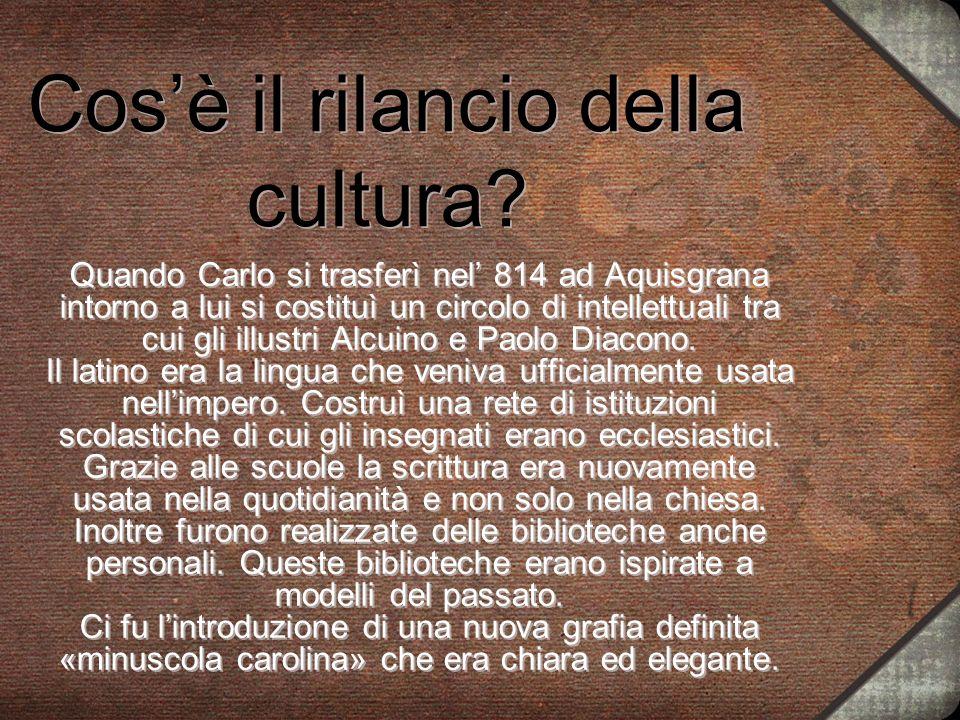 Cos'è il rilancio della cultura