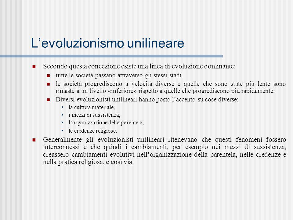 L'evoluzionismo unilineare