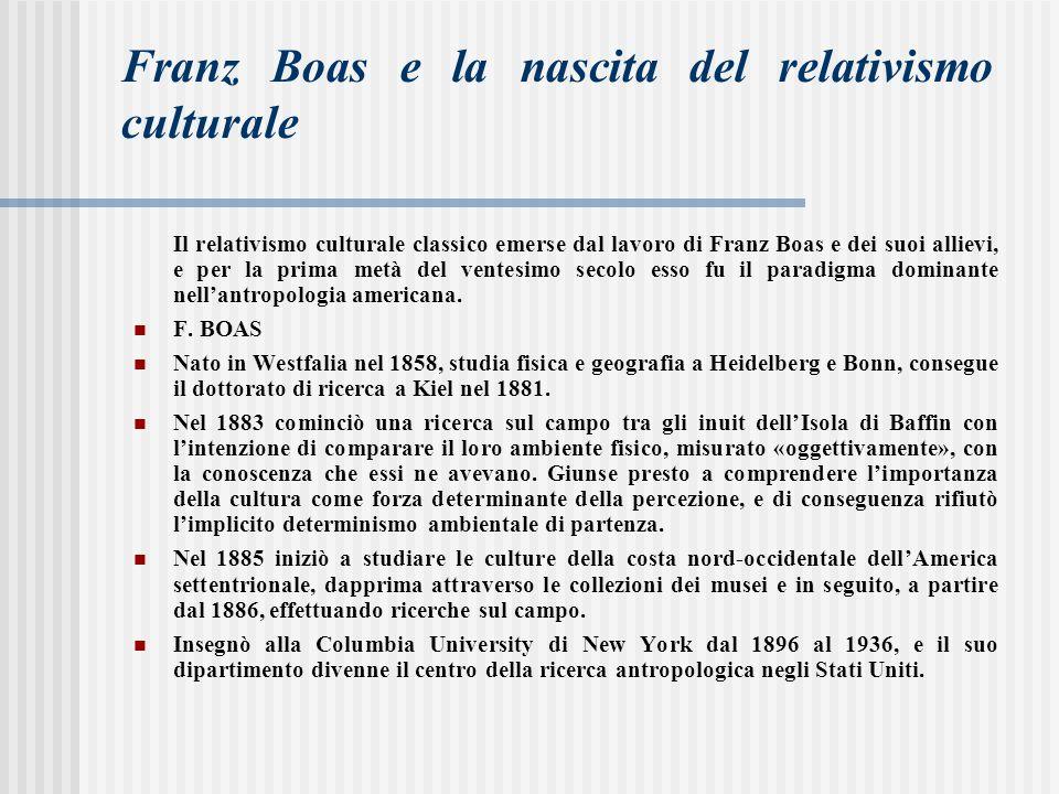 Franz Boas e la nascita del relativismo culturale