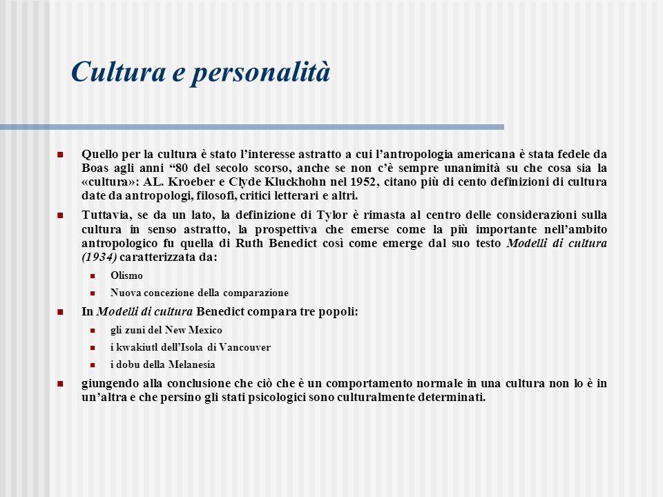 Cultura e personalità