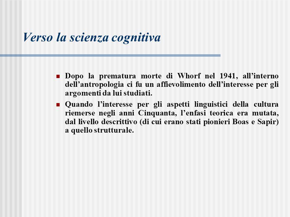 Verso la scienza cognitiva