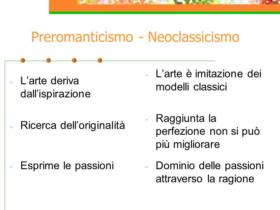 Preromanticismo - Neoclassicismo