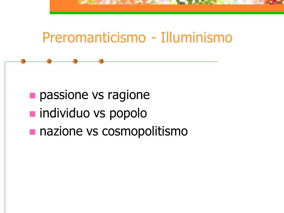 Preromanticismo - Illuminismo