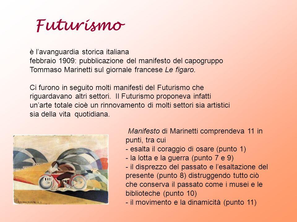 Futurismo è l'avanguardia storica italiana