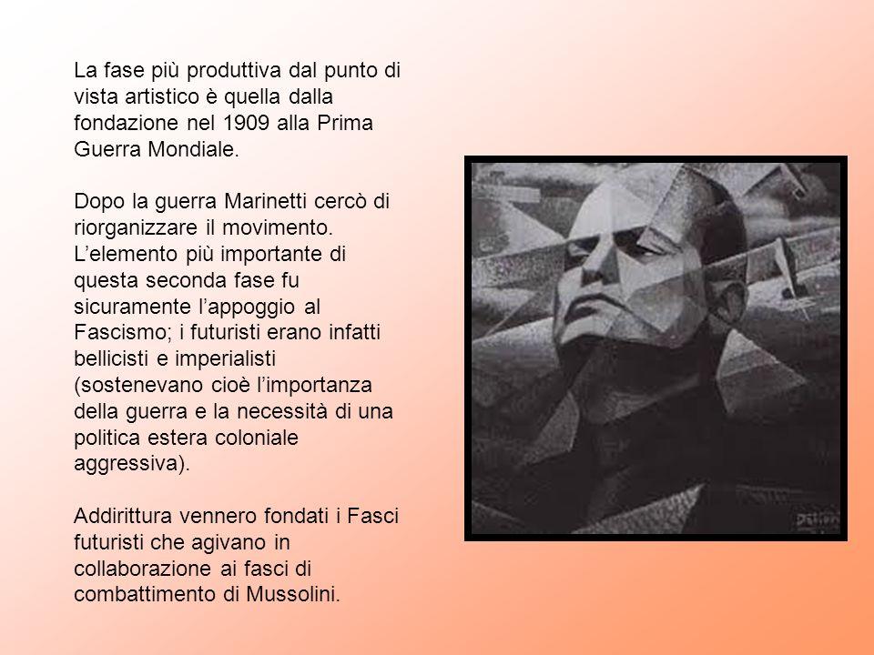 La fase più produttiva dal punto di vista artistico è quella dalla fondazione nel 1909 alla Prima Guerra Mondiale.