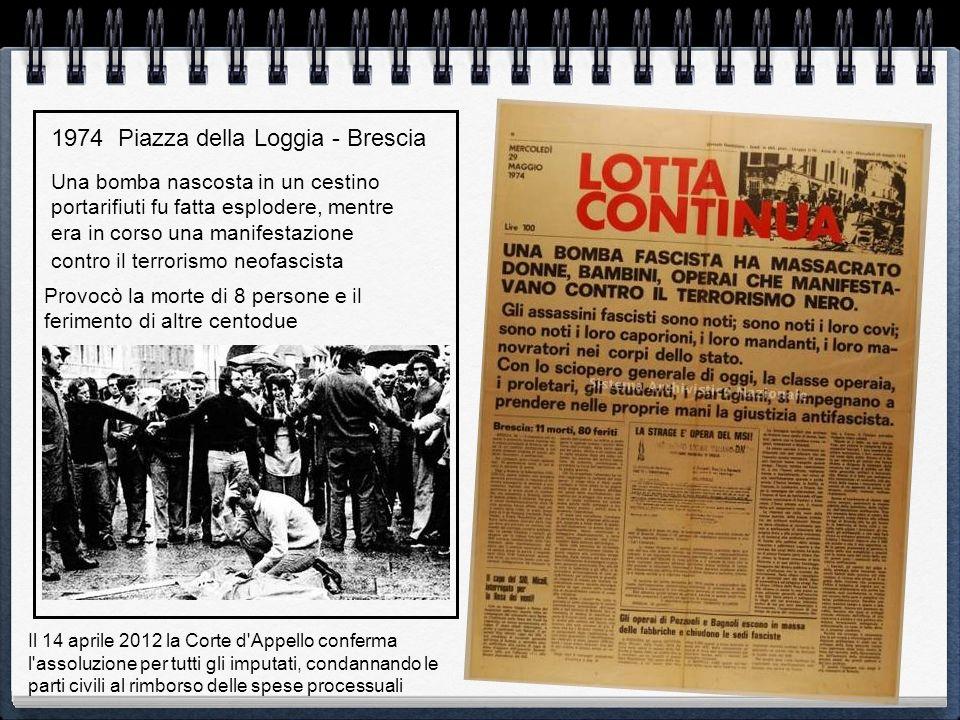1974 Piazza della Loggia - Brescia