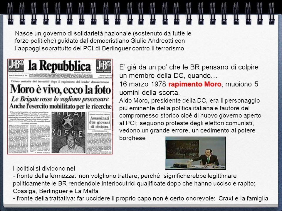 16 marzo 1978 rapimento Moro, muoiono 5 uomini della scorta.