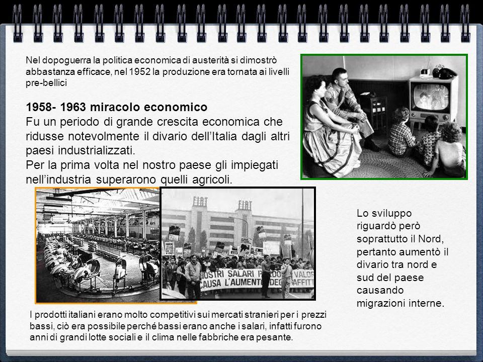Nel dopoguerra la politica economica di austerità si dimostrò abbastanza efficace, nel 1952 la produzione era tornata ai livelli pre-bellici