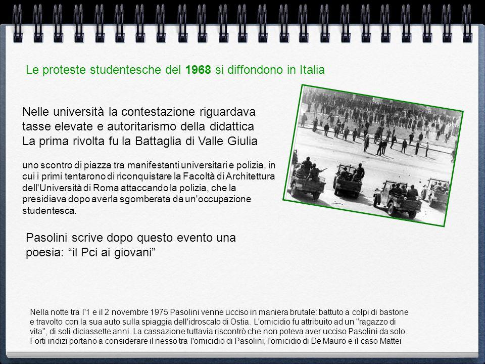 Le proteste studentesche del 1968 si diffondono in Italia