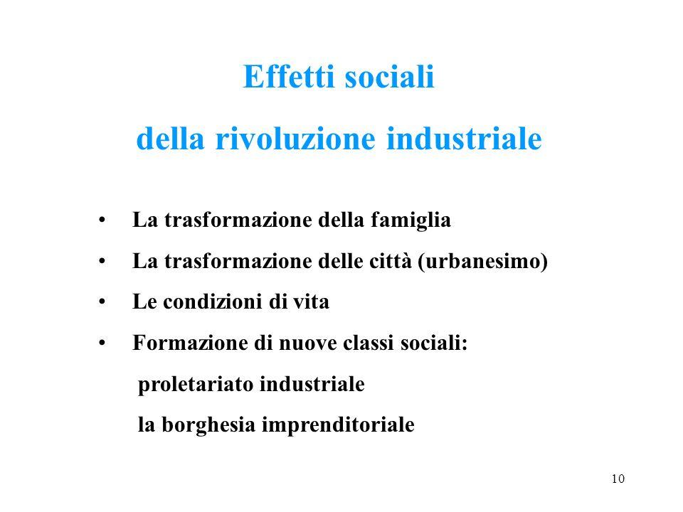 della rivoluzione industriale