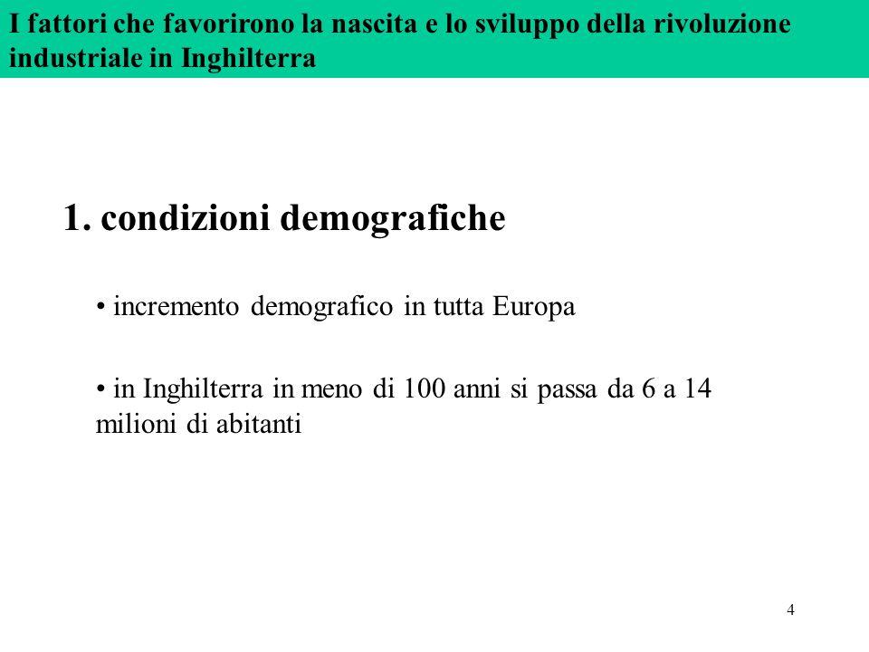 1. condizioni demografiche