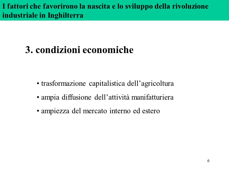 3. condizioni economiche