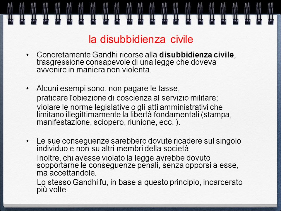 la disubbidienza civile