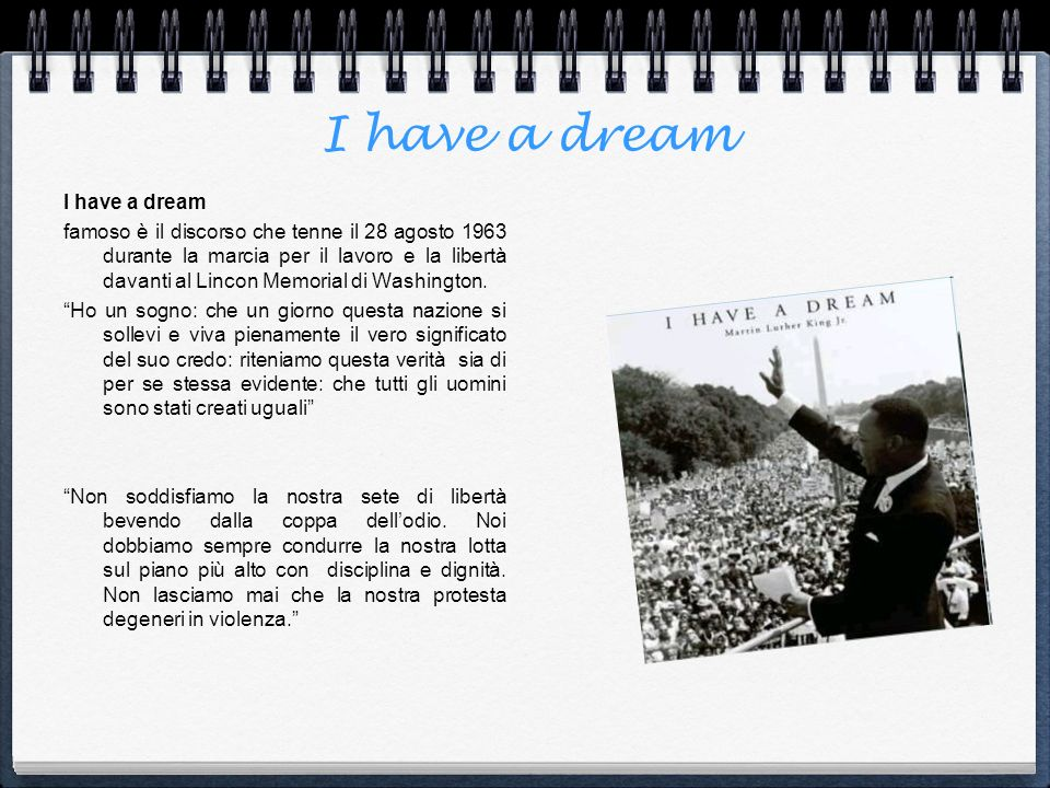 I have a dream I have a dream