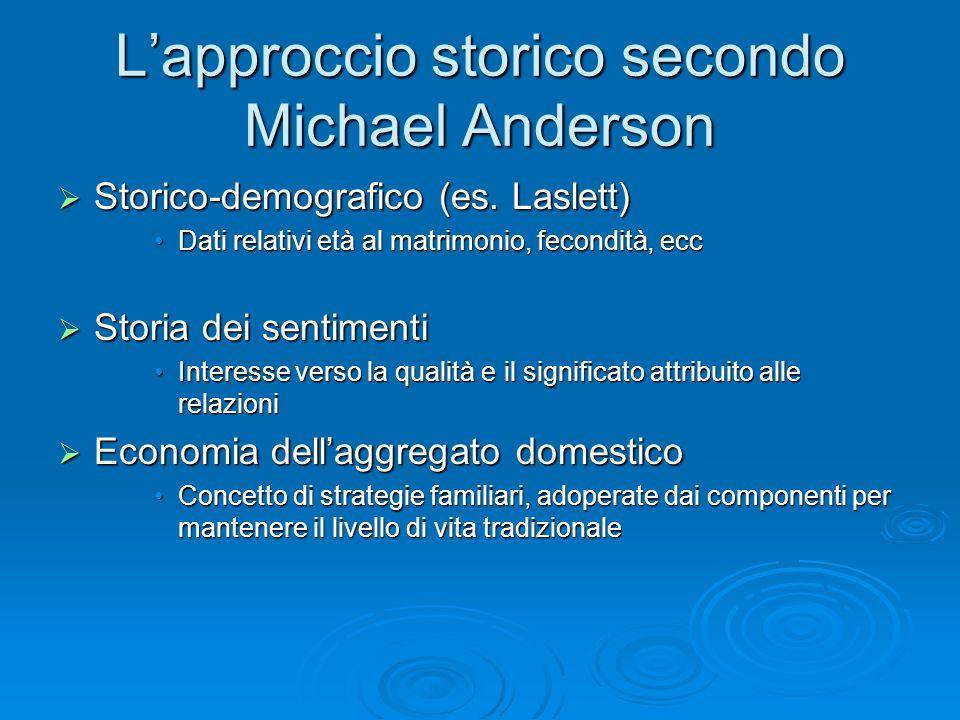 L'approccio storico secondo Michael Anderson