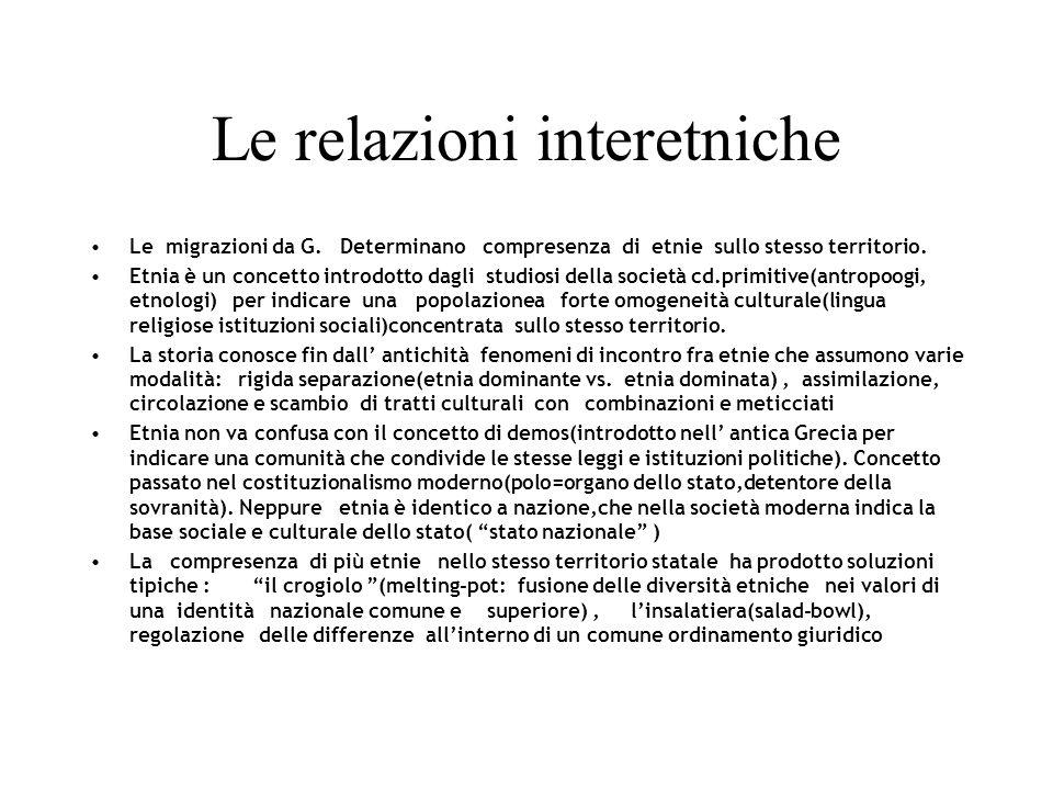 Le relazioni interetniche