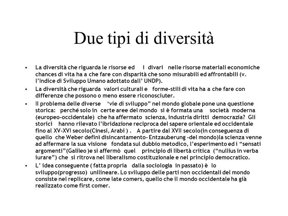 Due tipi di diversità