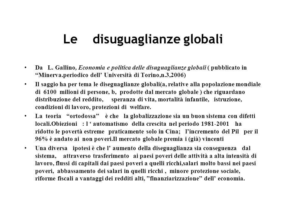 Le disuguaglianze globali