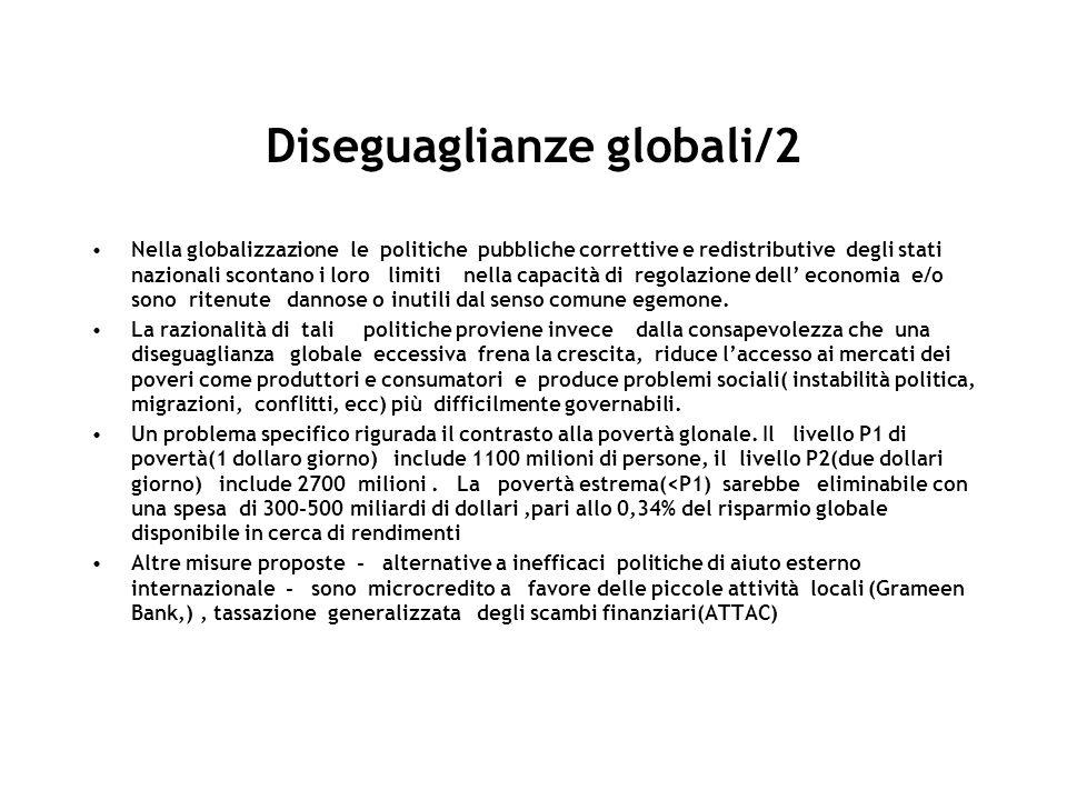 Diseguaglianze globali/2