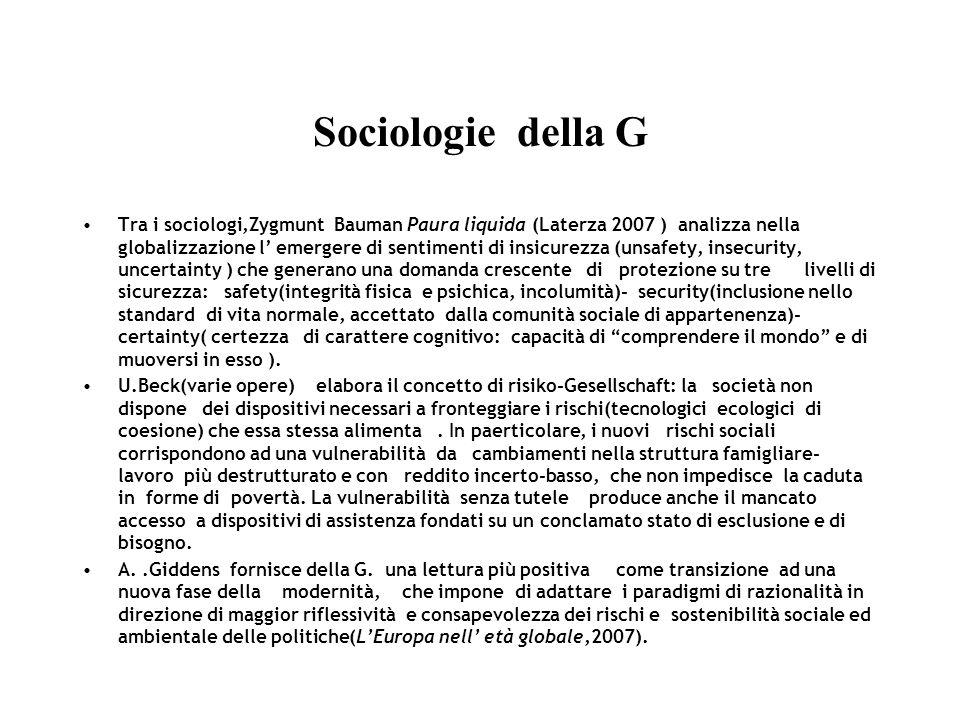 Sociologie della G