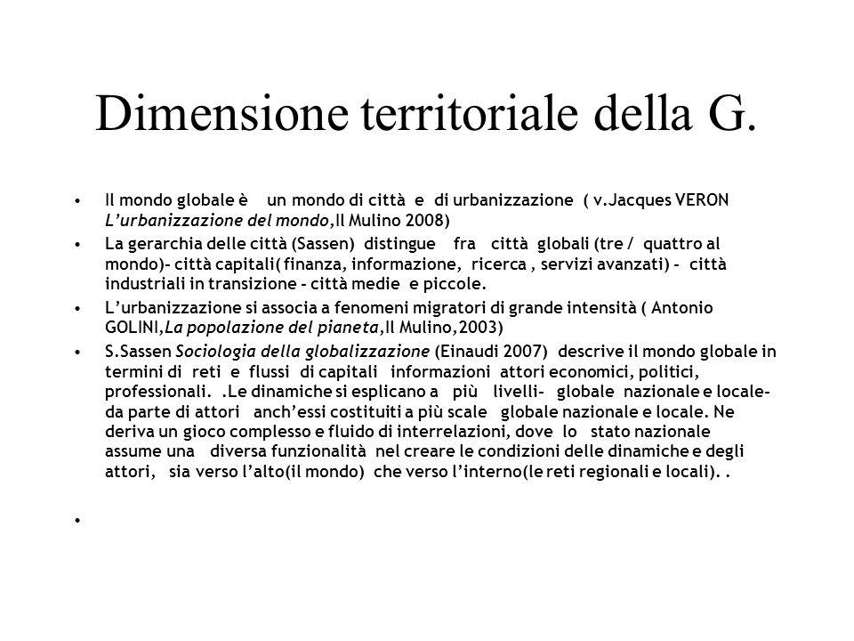 Dimensione territoriale della G.