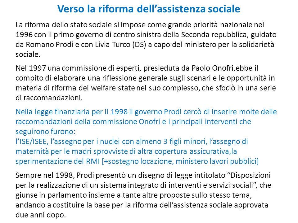 Verso la riforma dell'assistenza sociale