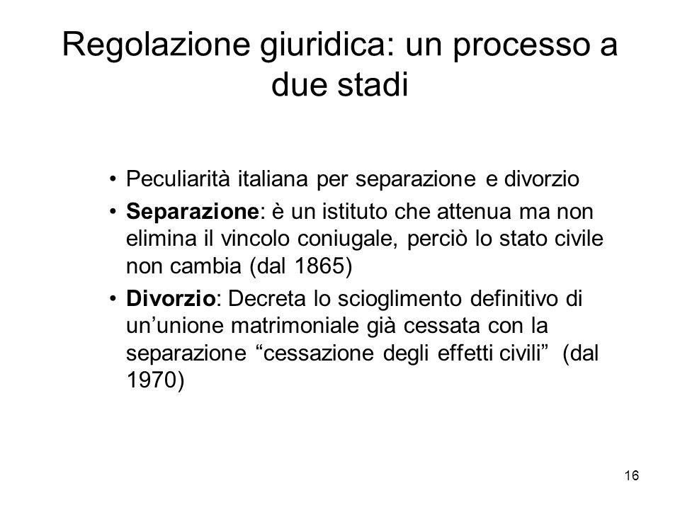 Regolazione giuridica: un processo a due stadi