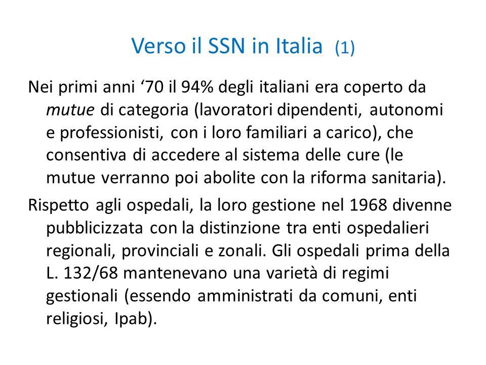 Verso il SSN in Italia (1)