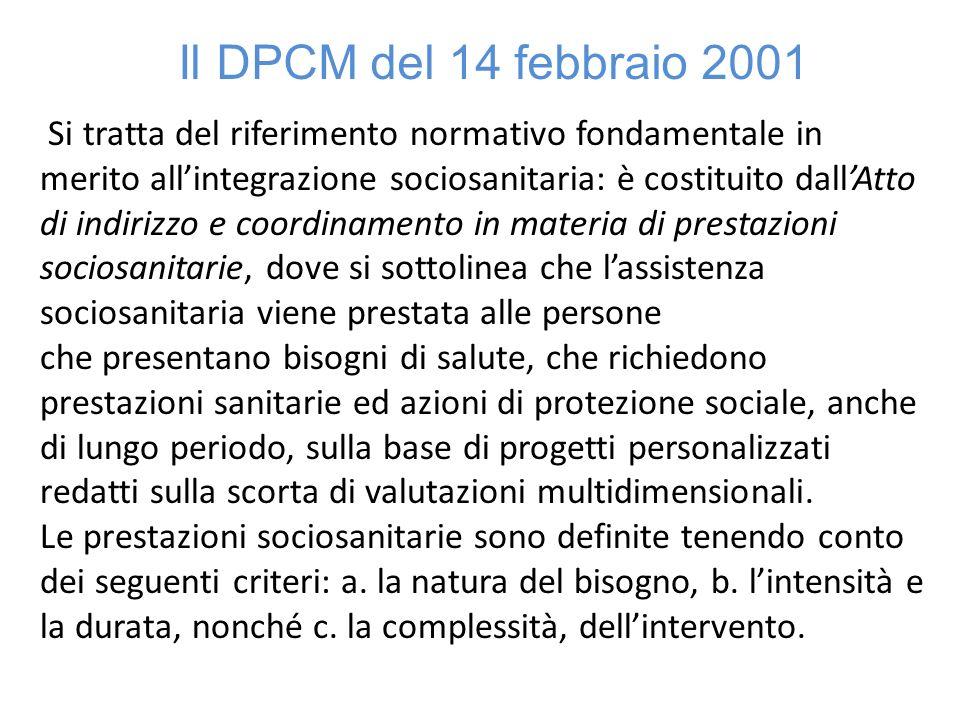 Il DPCM del 14 febbraio 2001