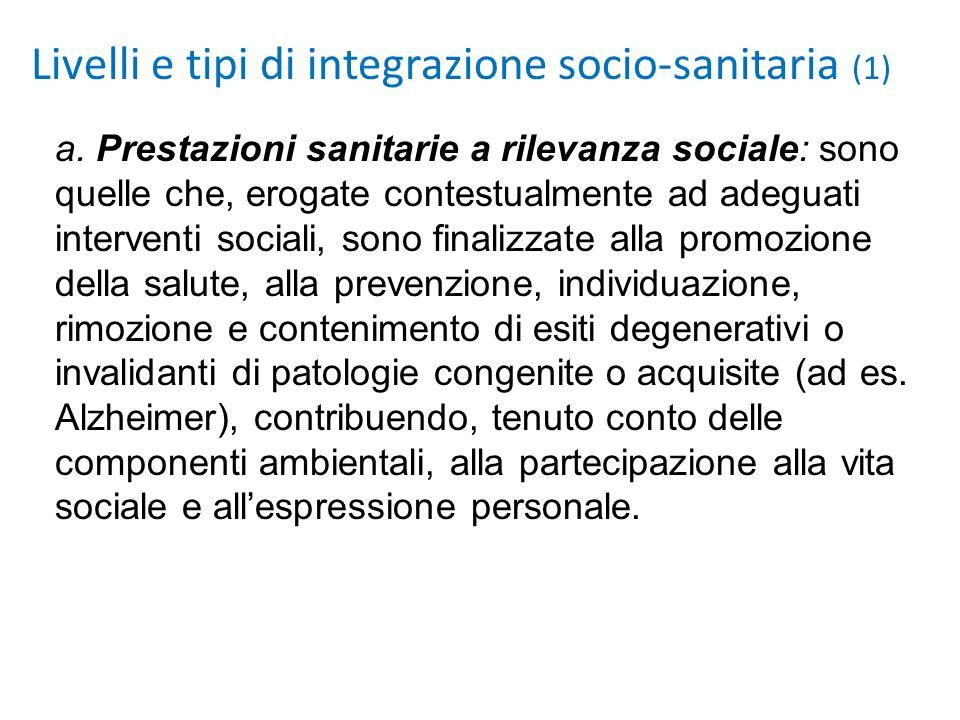 Livelli e tipi di integrazione socio-sanitaria (1)