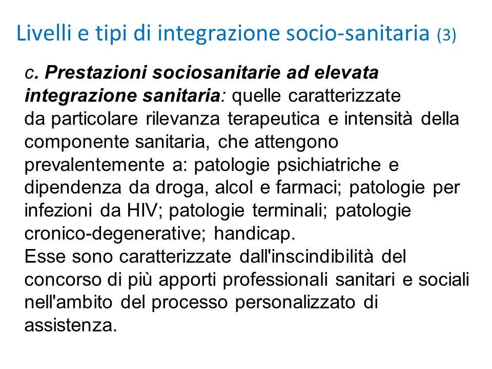 Livelli e tipi di integrazione socio-sanitaria (3)