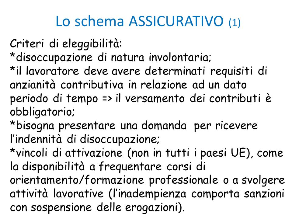 Lo schema ASSICURATIVO (1)