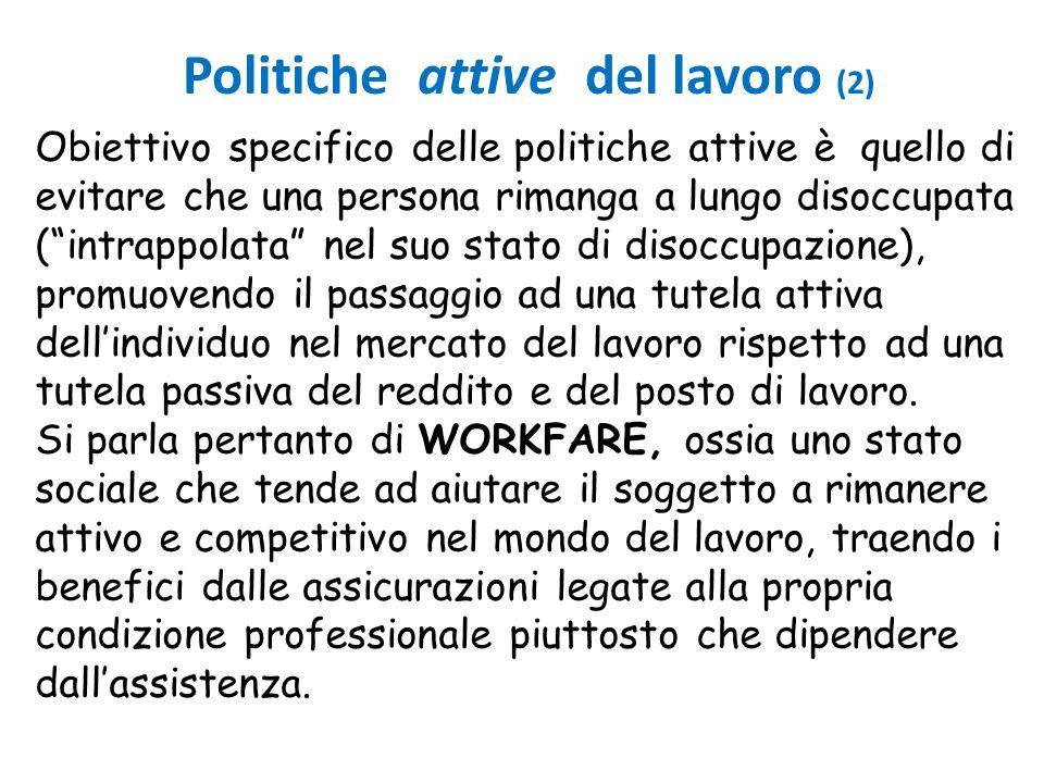 Politiche attive del lavoro (2)