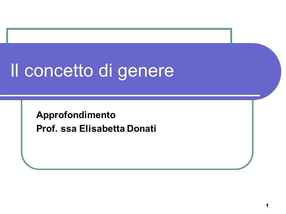Approfondimento Prof. ssa Elisabetta Donati