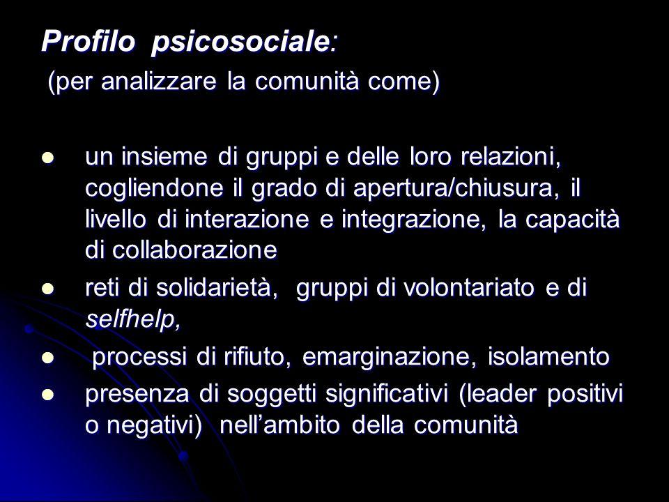 Profilo psicosociale: