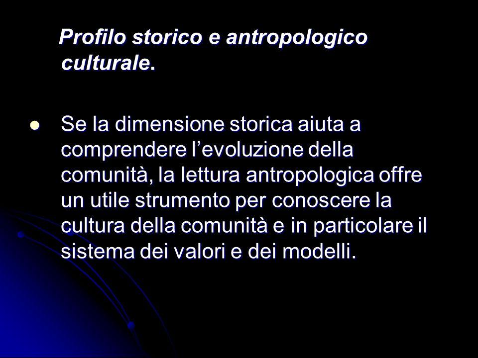 Profilo storico e antropologico culturale.