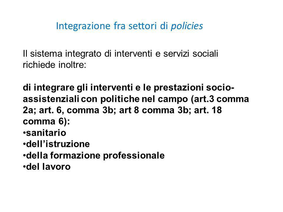 Integrazione fra settori di policies