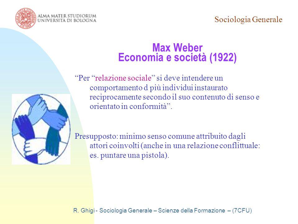Max Weber Economia e società (1922)