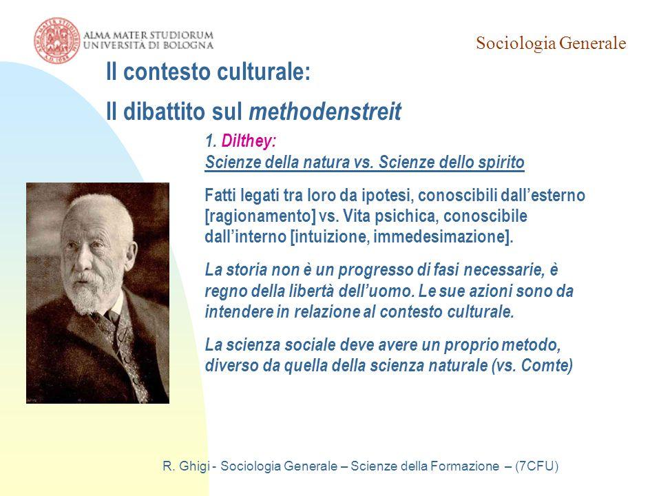 Il contesto culturale: Il dibattito sul methodenstreit