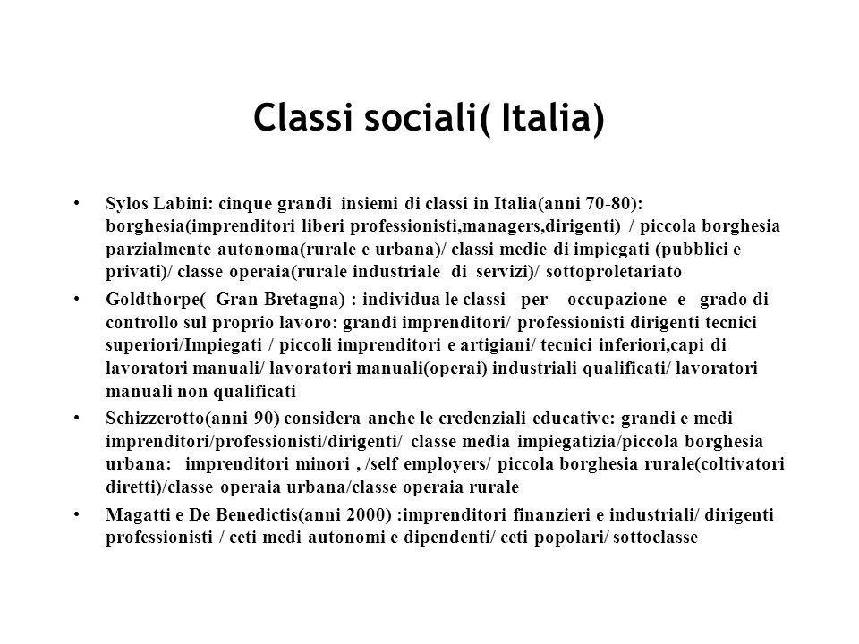Classi sociali( Italia)