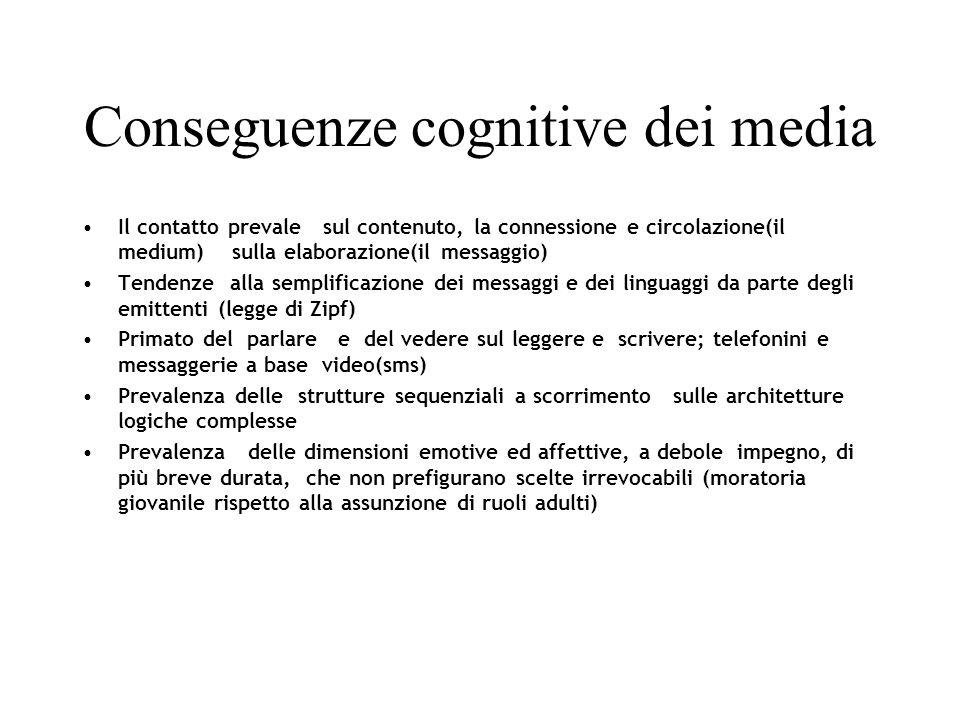 Conseguenze cognitive dei media