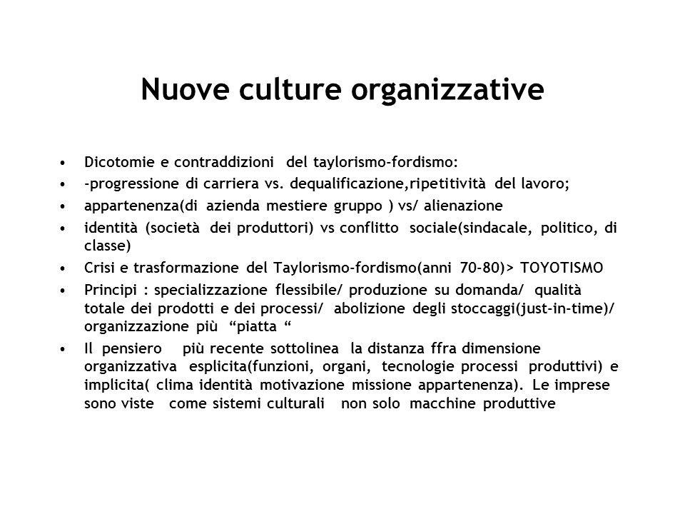 Nuove culture organizzative