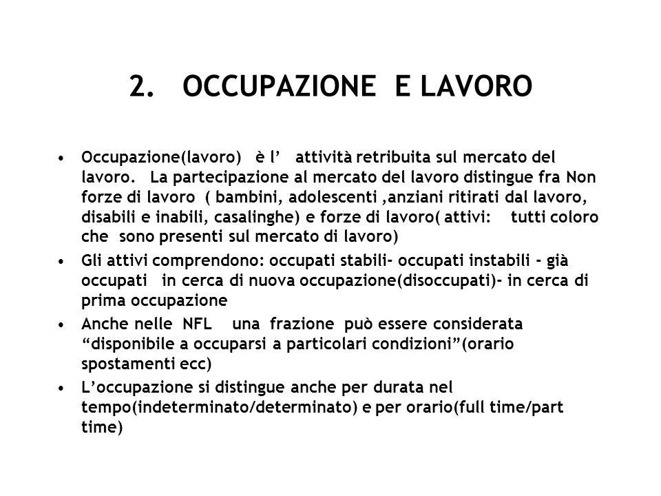 2. OCCUPAZIONE E LAVORO
