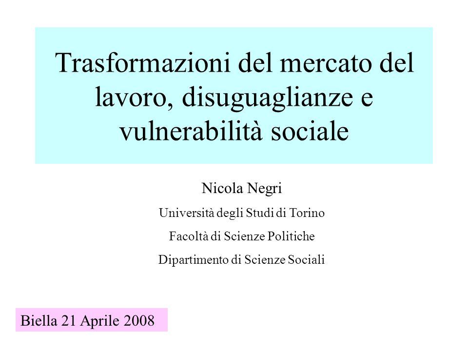 Trasformazioni del mercato del lavoro, disuguaglianze e vulnerabilità sociale